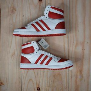 Adidas Mens Top Ten RB FV4925 Scarlet White Lace Up Sneaker Shoes Size US 11.5